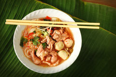 Thai noodle in dish. Stock Image