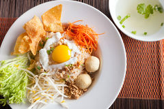 Thai Noodle Dish with Fried Egg Royalty Free Stock Photography