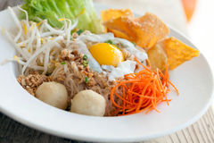 Thai Noodle Dish with Fried Egg Royalty Free Stock Images