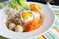 Thai Noodle Dish with Fried Egg Royalty Free Stock Photo