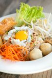 Thai Noodle Dish with Fried Egg Stock Image