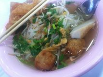 Thai noodle. And fish ball Stock Image
