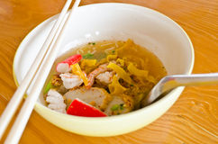 Thai noodle food. Royalty Free Stock Images