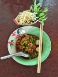 Thai noodle with fresh vegetable Royalty Free Stock Image