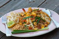 Thai noodle fried Stock Image