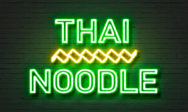 Thai noodle neon sign Royalty Free Stock Images