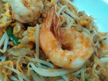 Thai noodle phad thai with shrimp. Noodle Thai food Stock Photography