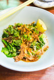 Thai Noodle with Pork Royalty Free Stock Image