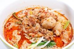 Thai noodle soup. Stock Images