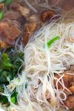 Thai Noodle Soup And Pork Meat Royalty Free Stock Image