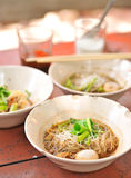 Thai Noodle Soup with Meat Royalty Free Stock Images