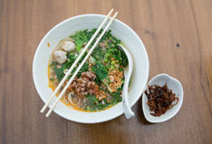 Thai Noodle Soup with Meat Royalty Free Stock Photos