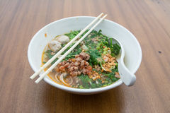 Thai Noodle Soup with Meat Stock Images