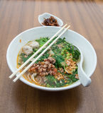 Thai Noodle Soup with Meat Stock Photo