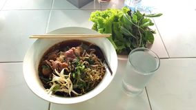 Thai noodle soup ready to eat Stock Images