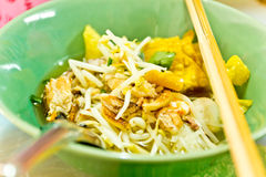 Thai Noodle Soup with seafood Stock Photo