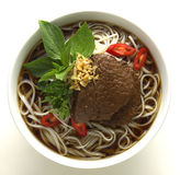 Thai Noodle Soup. Spice spring thai vegetable Royalty Free Stock Photos