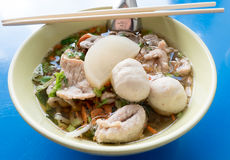 Thai noodle soup Stock Images