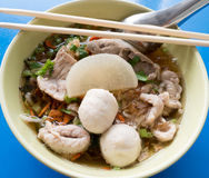 Thai noodle soup Royalty Free Stock Images