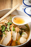Thai noodle spicy. Stock Photos