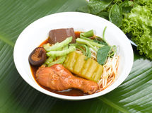 Thai chicken noodle style  Royalty Free Stock Photography