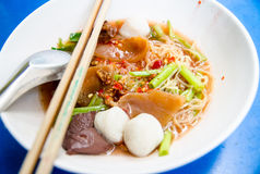 Thai Noodle Style call YEN-TA-FO Stock Photos