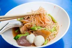 Thai Noodle Style call YEN-TA-FO Stock Image