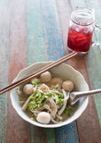 Thai noodle on table Stock Photo