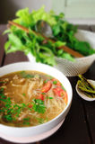 Thai noodle with vegetable Royalty Free Stock Image