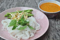 Thai noodles Stock Photos
