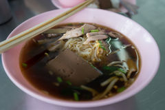 Thai noodles with duck meat Stock Image
