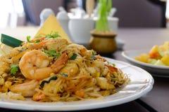 Thai noodles. Pad-Thai,thai style noodles Royalty Free Stock Photo