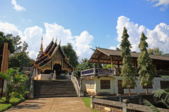 Thai north east style temple Royalty Free Stock Photography