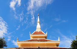 Thai north east traditional shrine. With the blue sky Stock Images