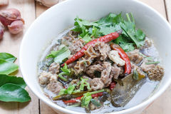 Thai Northeast food,Braised beef Spicy Soup Stock Image