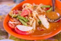 Thai Northeast food called `Papaya salad` Stock Image