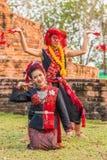 Thai northeastern traditional dance. Stock Photos