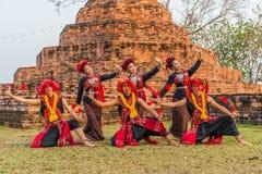 Thai northeastern traditional dance Stock Photos
