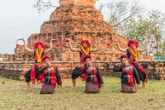 Thai northeastern traditional dance Royalty Free Stock Photography