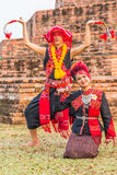 Thai northeastern traditional dance. Royalty Free Stock Photography