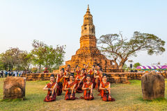 Thai northeastern traditional dance Stock Images