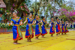 Thai northeastern traditional dance Royalty Free Stock Photo