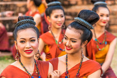 Thai northeastern traditional dancers. Stock Photography
