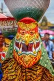 Thai northeastern traditional Phi Ta Khon ghost Festival parade Royalty Free Stock Photo