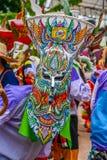 Thai northeastern traditional Phi Ta Khon ghost mask Royalty Free Stock Photo