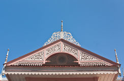 Thai northern antique style house gable Royalty Free Stock Image