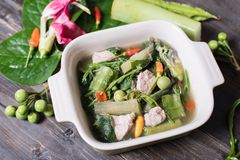 Thai Northern food Kaeng Khae with pork Royalty Free Stock Image
