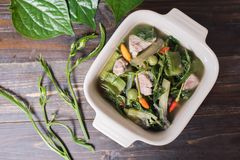 Thai Northern food Kaeng Khae with pork Royalty Free Stock Photos
