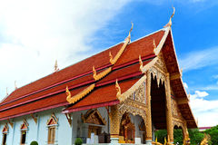 Thai northern style church of Wat chadi liam Royalty Free Stock Photography