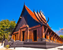 Thai northern style wooden house Stock Photo